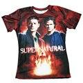 Rojo fresco! Más Nuevo 3D Camisetas Impresas Sobrenatural Gráfico Tops de Verano de Manga Corta de Los Hombres Camisetas De Moda Para Unisex Winchester T camisa