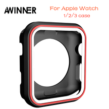 Colorful soft and slim Case for iwatch 38mm/42mm Plastic Soft Cover for Apple Watch TPU case Series 1/2/3 Protect Cover