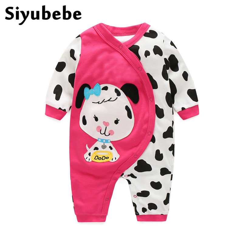0-12M Newborn Baby Rompers Fashion Brand 100% Cotton Long Sleeve Ropa Bebe Infant Girl Jumpsuit Newborn Baby Boy Clothes