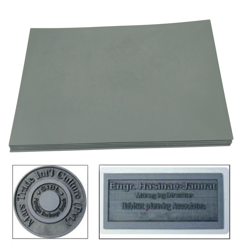1pc Gray Laser Rubber Sheet Oil Abrasion Resistance Laser Engraving Stamp For Laser Printing Machine A4 297 X 211 X 23mm