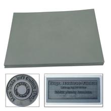 1pc Gray Laser Rubber Sheet Oil Abrasion Resistance Laser Engraving Stamp for Laser Printing Machine A4 297 x 211 x 23mm