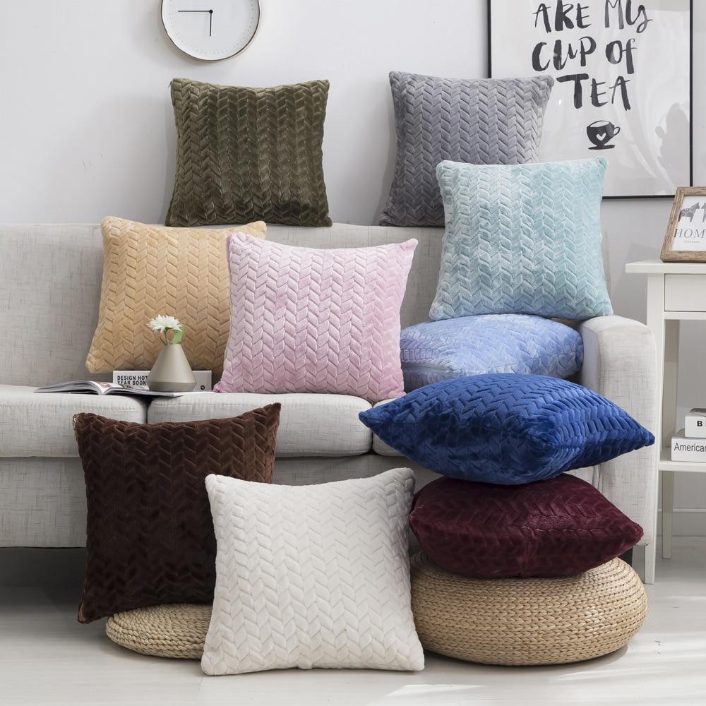 Plush Cushion Cover 45*45cm Decorative Pillows Home...