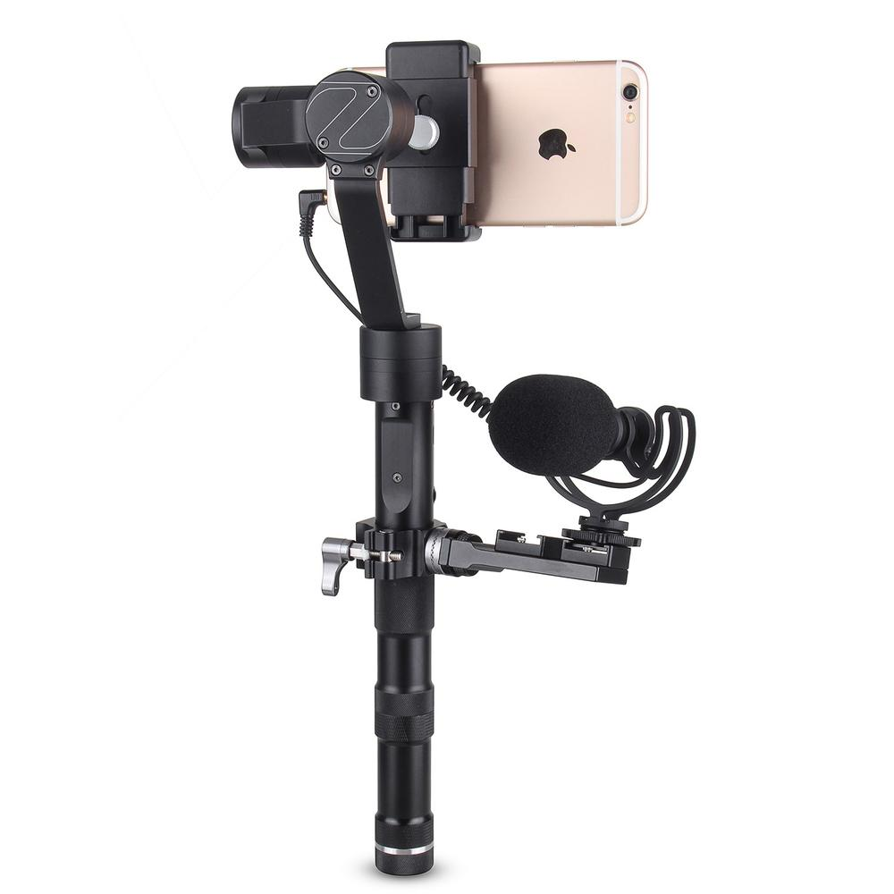 COMICA CVM-VM10-II Kit Cardioid Directional Condenser Video Microphones Mic With Universal Mount for DJI OSMO Mobile Plus comica cvm vm10 ii microphone for dji osmo mobile plus smartphone gopro micro camera cardioid directional shotgun microphone