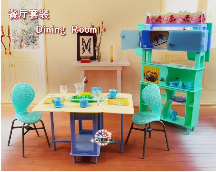Za barbie Kelly Ken Doll Zelena blagovaonica Showcase Set / Dollhouse - Lutke i pribor - Foto 2