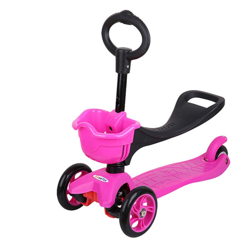 Children Scooter Balance Car Baby Stroller 3 In 1 Baby Walker Tricycle Wheeler Diecast Toy Vehicles Three Wheels Handle Toys Car