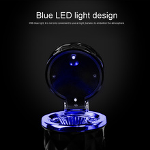 LED light ashtray portable mini car interior products smokeless vertical cylinder cup holder auto parts