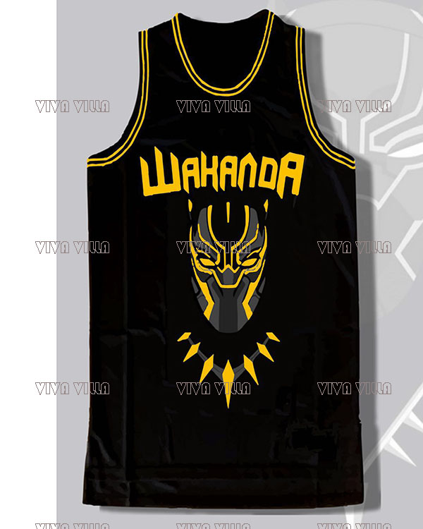 Black Panther Wakanda T'challa Killmonger Basketball Jerseys Stitched Men Movie Jersey S-3XL Free Shipping