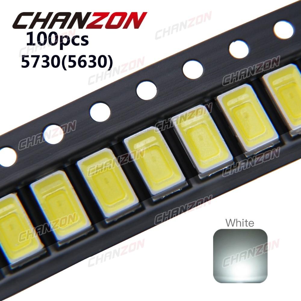 100PCS SMD 5630 5730 Big-chip 0.5W High-Power white LED Light  TC