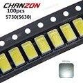 100 piezas SMD 5730 diodo blanco SMD5730 0,5 W 5630 LED 6000 k 6500 k Super brillante Chip SMD5630 5730SMD diodo Emisor SMT PCB 150mA