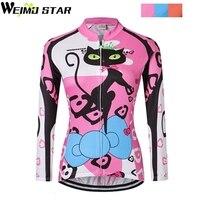 Команда Pro Для женщин Велоспорт Джерси с длинным рукавом Рубашки для мальчиков Для женщин Ropa Ciclismo Велосипедный Спорт Костюмы MTB велосипед Дж...