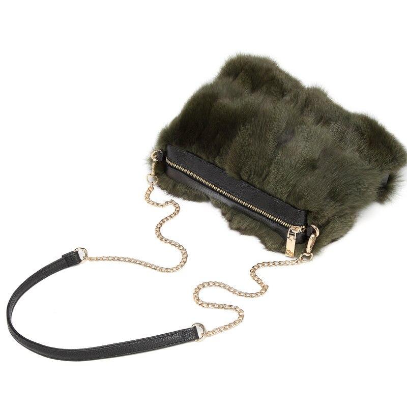 bag for women 2018 New Faux Fox Fur Handbag Winter Warm Female Fashion Shoulder Bag banquet Handbag sac a main faux fur duffle shoulder bag
