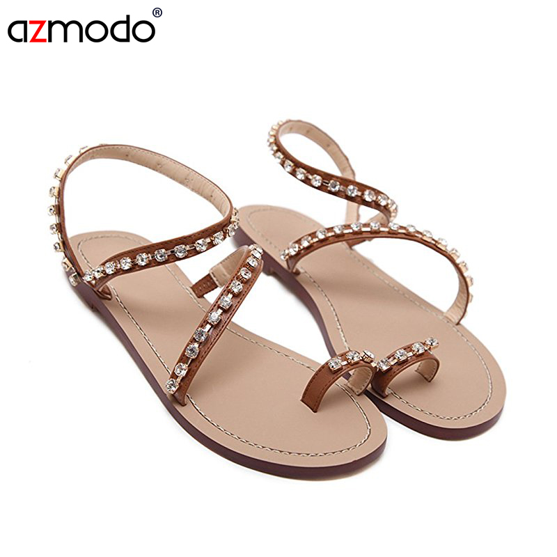 953c6423a44c8b 2018 Summer women shoes sandals Beading Rhinestone Thong Flat sandals women  gladiator sandals women sandalia-in Low Heels from Shoes on Aliexpress.com  ...