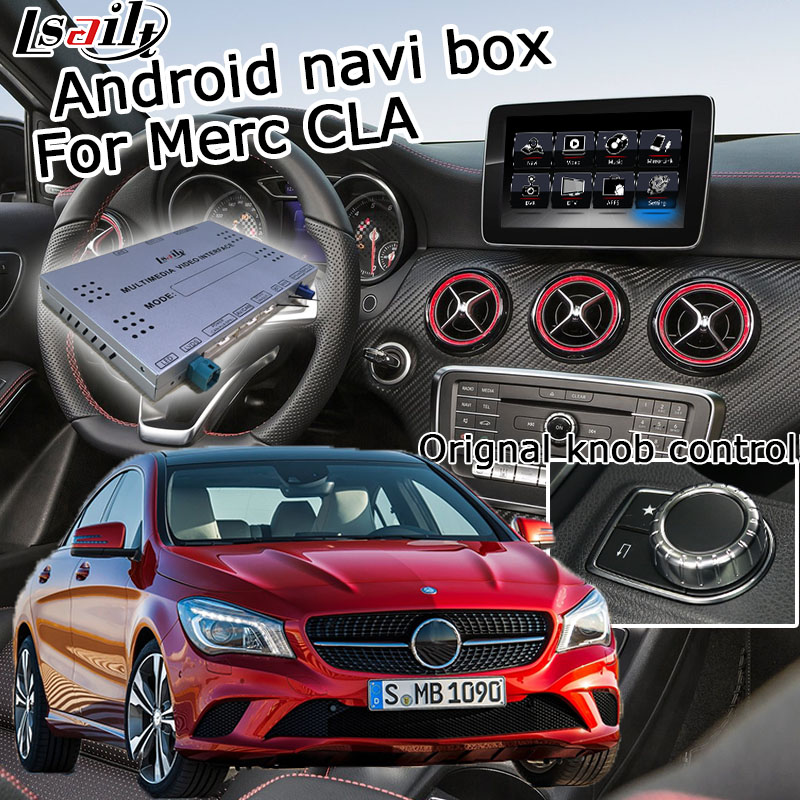 US $550 0 |Android GPS navigation box for Mercedes benz CLA class NTG 5 0  video interface box mirror link youtube waze with carplay-in Vehicle GPS