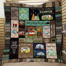 Thin Blanket Bedding Camping Quilt Printed Kids 3D Warm Adult Soft Home for Traveling