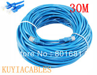Free Shipping Tracking Number 30M 100ft CAT5E CAT5 RJ45 Ethernet Internet Network Patch Lan Cable