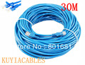 Free Shipping +tracking number !!  30M 100ft CAT5E CAT5 RJ45 Ethernet Internet Network Patch Lan Cable Cord Blue