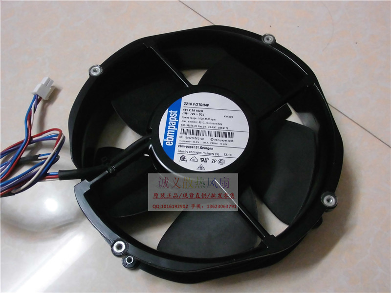 Free shipping EBMPAPST 2218 F/2TDH4P 48V 2.2A 103W cooling fan