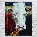 Горячая Распродажа  ручная роспись  абстрактные животные  корова  картина маслом на холсте  настенные художественные картины для украшения ...