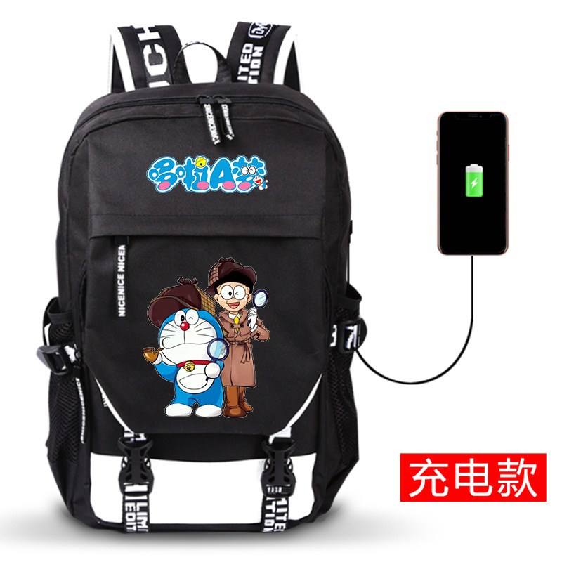 Cartoon Doraemon Nobita Nobi USB Charging Laptop Backpack Kawaii Women Shoulder Bags Canvas School Bags Anime Printing BackpackCartoon Doraemon Nobita Nobi USB Charging Laptop Backpack Kawaii Women Shoulder Bags Canvas School Bags Anime Printing Backpack