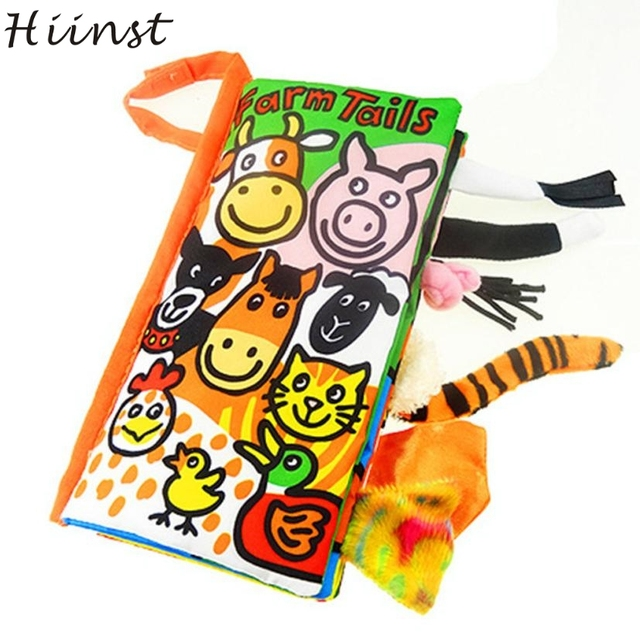 HIINST Modern Cloth Book Soft Quiet For Baby Children Toddler Toy Animal Farm Tails