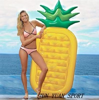 Pineapple Inflatable Air Mattress Water Boat Floats Pool Swimming Summer Beach Bed Toys Adult Kids Floats Buoy Donut Kickboard