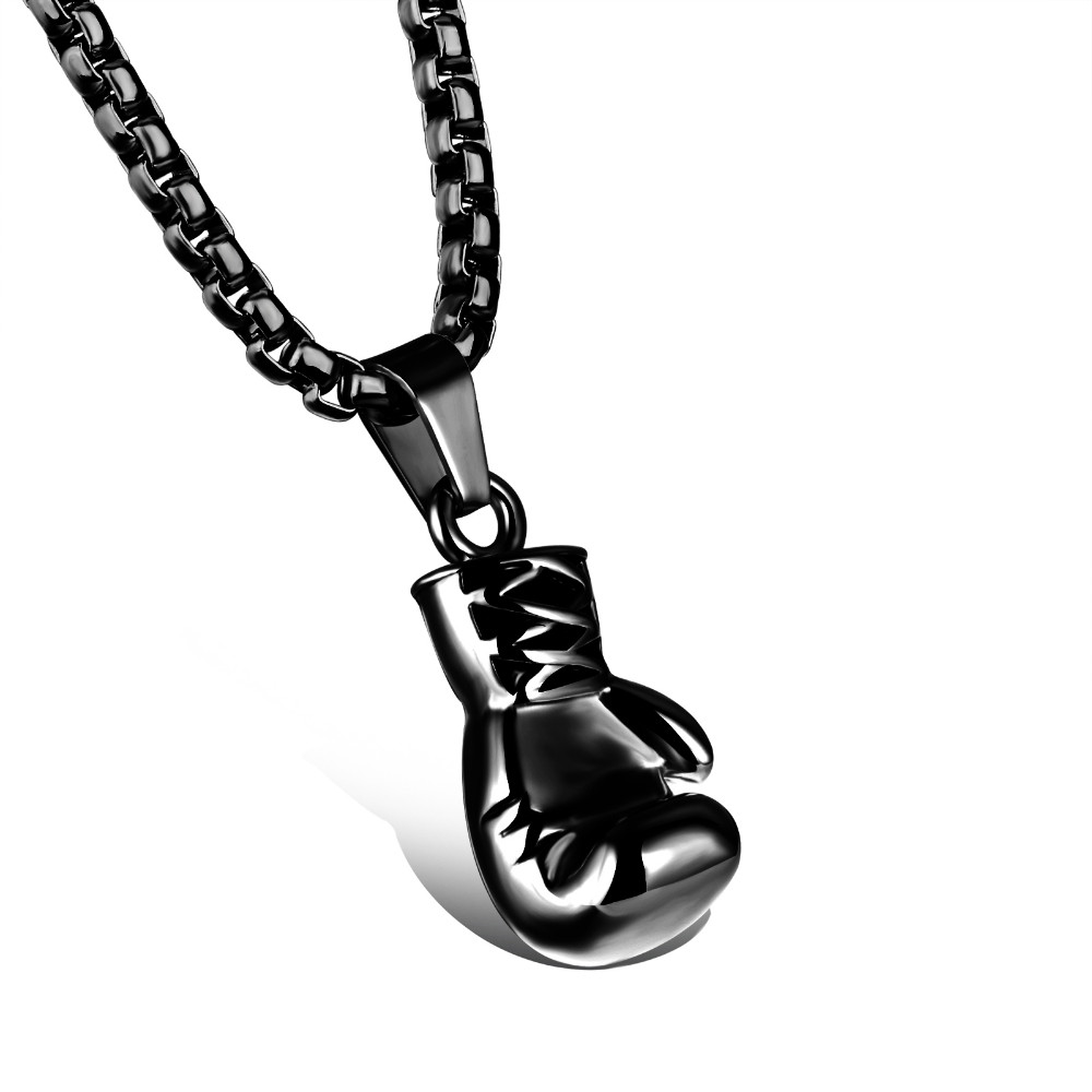 black-stainless-steel-boxing-glove-pendant-necklace-3