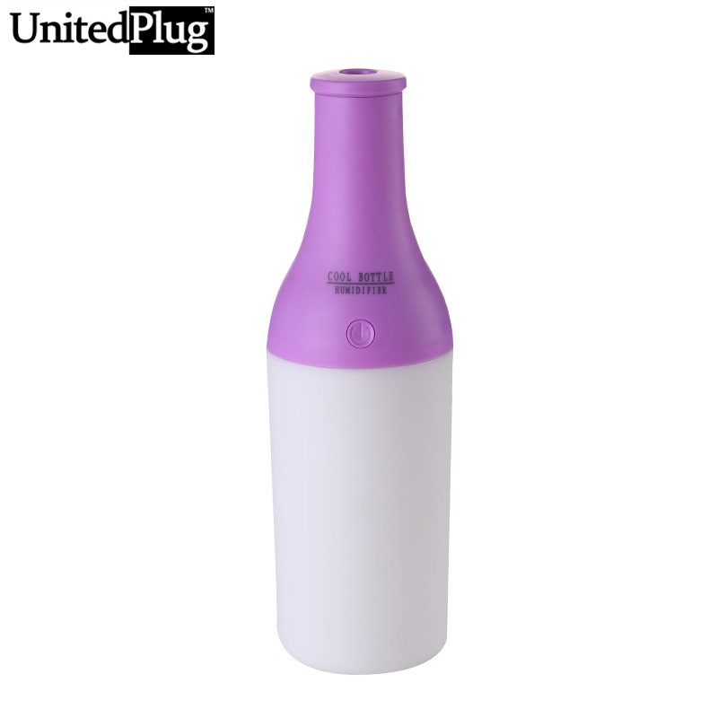 Aroma Diffuser Bottle ~ Unitedplug cool bottle desktop air humidifier with led
