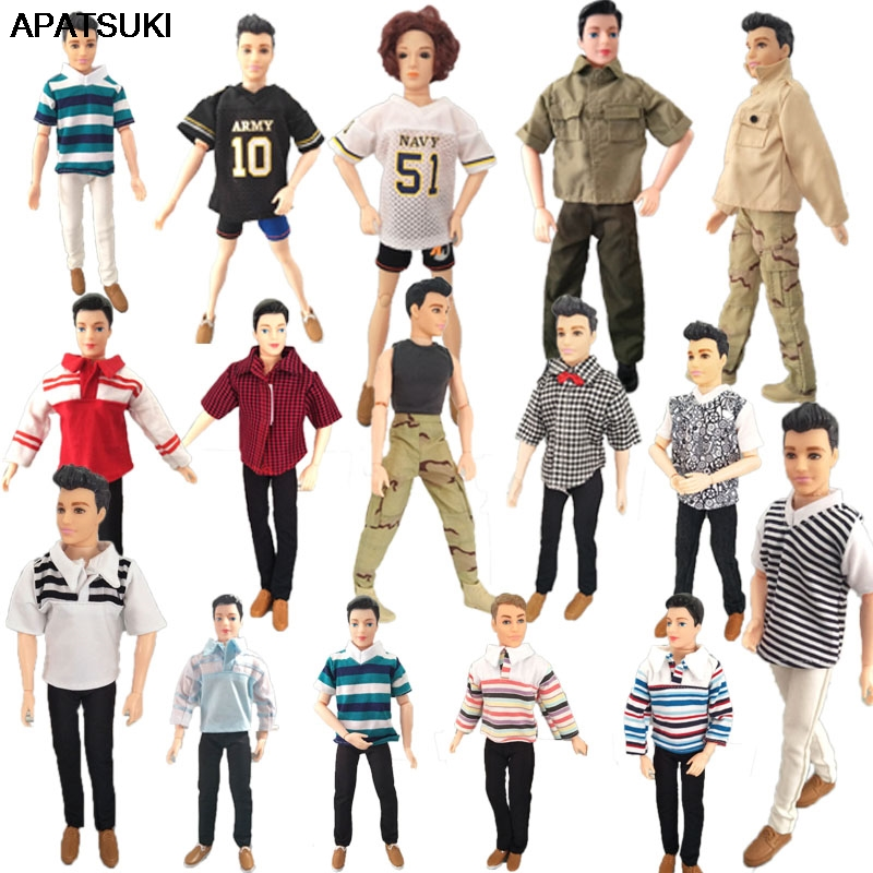 Fashion 1:6 Boy Doll Clothes For Ken Doll Top Shirt Pants Shorts For Barbie's Boyfriend Ken Prince Male Doll 1/6 Kids Toy