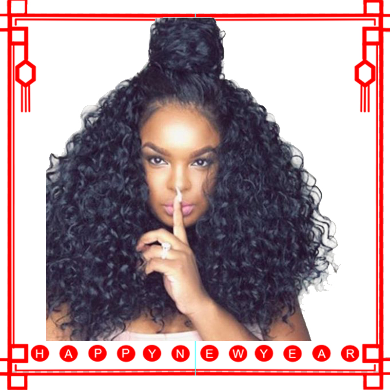 250 Tæthed Lace Front Human Hair Parykker For Women Natural Black Curly Lace Front Paryk Pre Plukket 13x4 Frontal Brazilian Paryk Remy