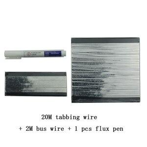 Image 3 - Kit 20 Pz Monocrystall Celle Solari Pannello Solare FAI DA TE 6x6 Con 20 M Tabulazione Filo 2 M Sbarre Penna Flusso filo e 1 Pz