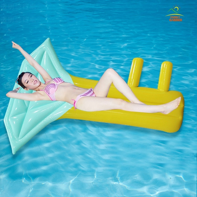 New Inflatable Air Mattress Mermaid Swimming Ring Pool Float Diamond ...