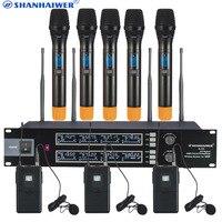 Профессиональный UHF караоке Беспроводной микрофон с ручной петличный микрофон для выбора клиента Высокая чувствительность караоке Mic Дина