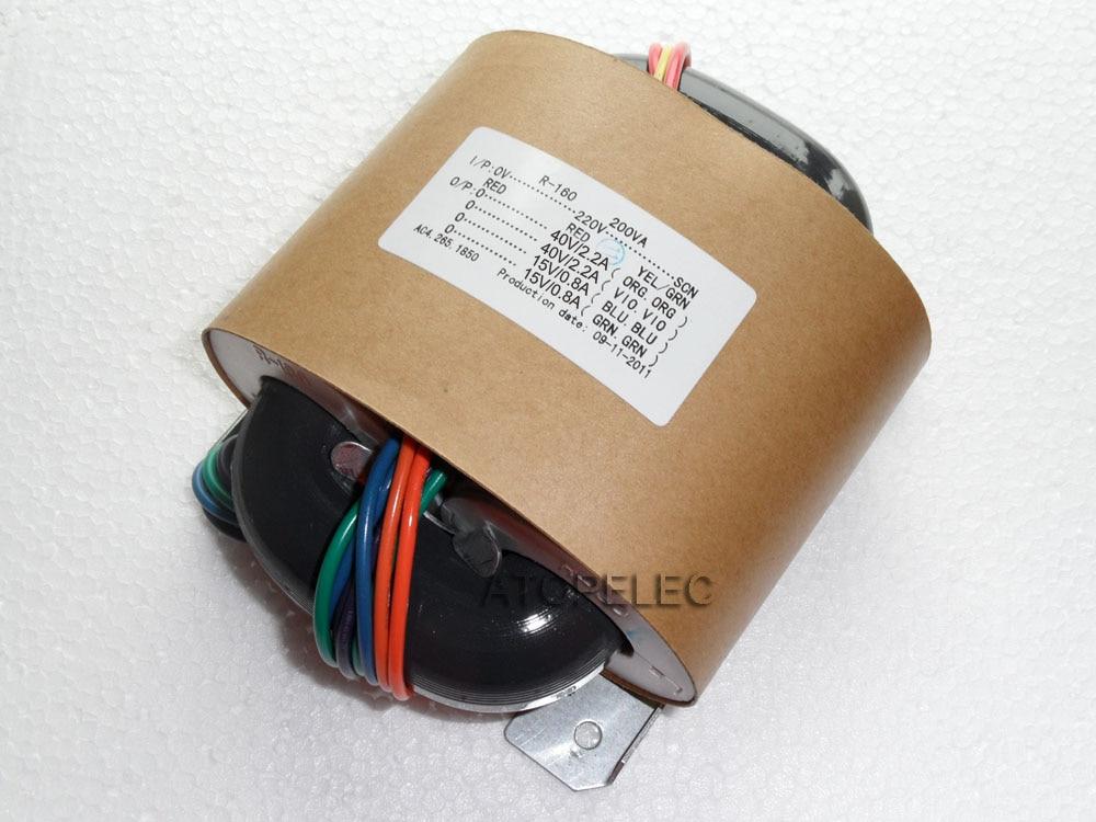220V 200W R-Core Transformer 40V+40V 15V+15V for Audio Amplifier Preamps AMP R Core