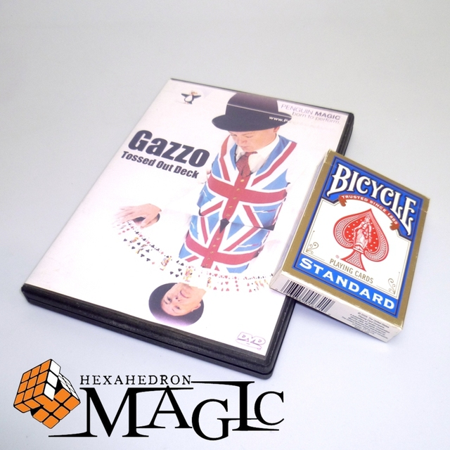 Gazzo Tossed Out Deck with Deck) by Gazz close-up street stage card magic tricks products toys / free shipping