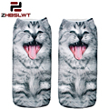 ZHBSLWT 20 Colors You Can Choose 3D Print Animal Women Socks Casual Cartoon Socks Unisex Low Cut Ankle Socks