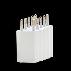 Image 3 - 5 Cái/lốc Màu Trắng EU Cắm Tường AC Sạc USB Cho iPhone 8 Pin Sạc + Adapter Sạc Cho apple iPhone 7 6 6S 5S 5