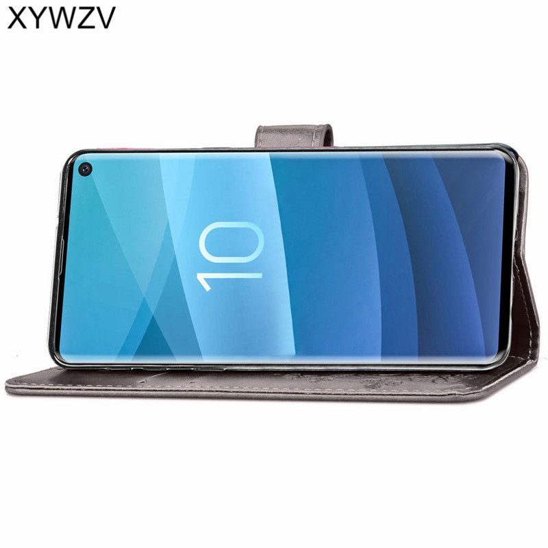 For Samsung Galaxy S10 Case Luxury PU Cover Flip Wallet Case For Samsung Galaxy S10 Back Cover For Samsung S10 Card Holder Shell in Flip Cases from Cellphones Telecommunications