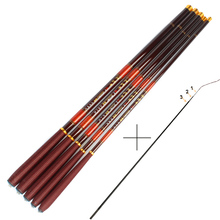 Carbon Fiber Carp Fishing Rod With Front 3 Sections Hand Pole Ultra-light Ultrafine Fishing Pole 3.6 4.5 5.4 6.3 7.2M