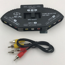 3 Video Devices to 1 TV Set AVBox 3 RCA Input to 1 TV output Multi Box Switch Box For DVD TV Game Vidicon цена и фото