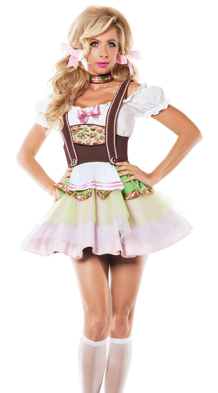 UK Dirndl Dress German Oktoberfest Bavarian Beer Wench Costume Maid Outfit Fancy