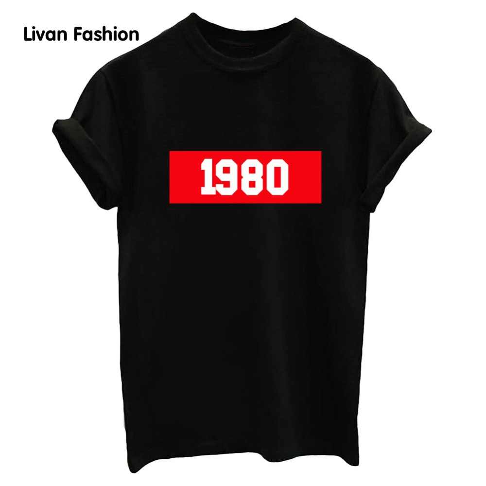 2017 new women punk style summer letter printing 1980 sleeve big size tee top cheap high quality tshirt comfortable HC-TT6011
