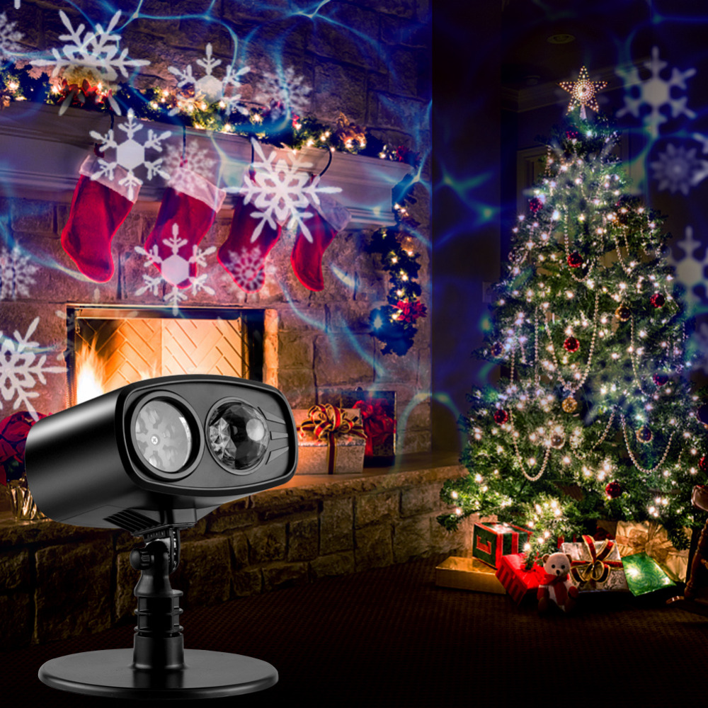 Holiday Decoration Waterproof Outdoor LED Stage Lights Christmas Laser Snowflake Projector lamp Home Garden New Year Light