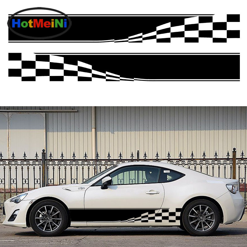 HotMeiNi 2x Checkered Flag Dynamic Movement To Accelerate Forward Racing Sport Car Caravan Travel Trailer Campervan Vinyl Decal forward forward ethno the best yet to come ss