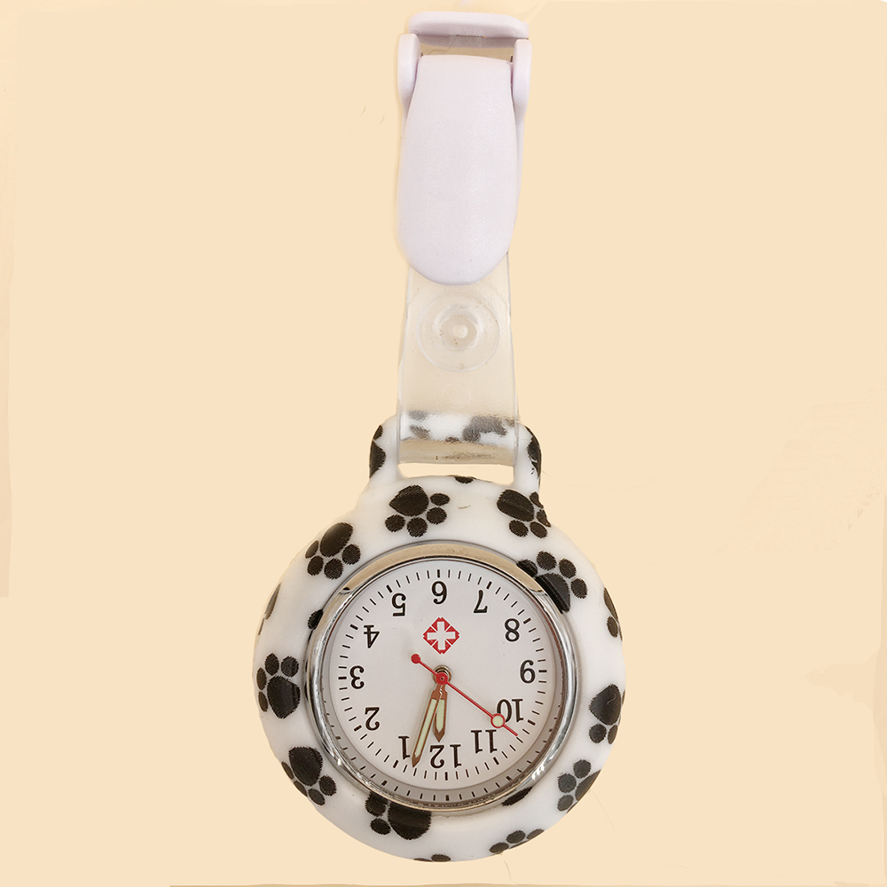 Hot Sell Fashion Pocket Watches Silicone Nurse Watch Brooch Tunic Fob Watch Doctor Medical reloj de bolsillo in Pocket Fob Watches from Watches