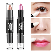 2017 New Make Up Eye Shadow Shimmer Pencils Double-end Waterproof Face Eye Brighten White Contour Nude Eyeshadow Stick