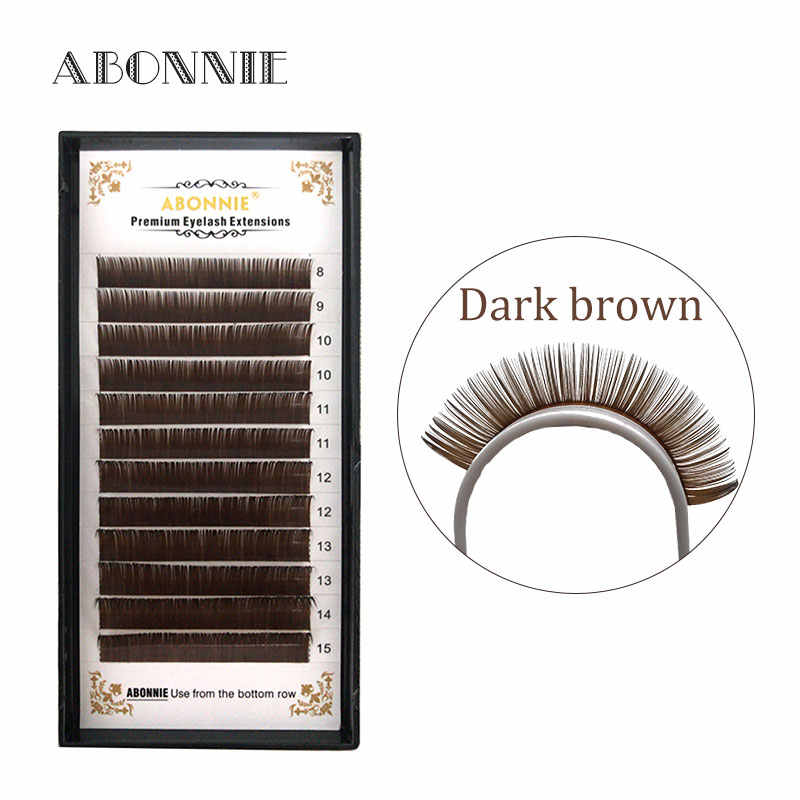 b1b68ac1b3f 8-15mm brown eyelash extension, brown lashes brown eyelashes.Faux Mink  False Eyelashes