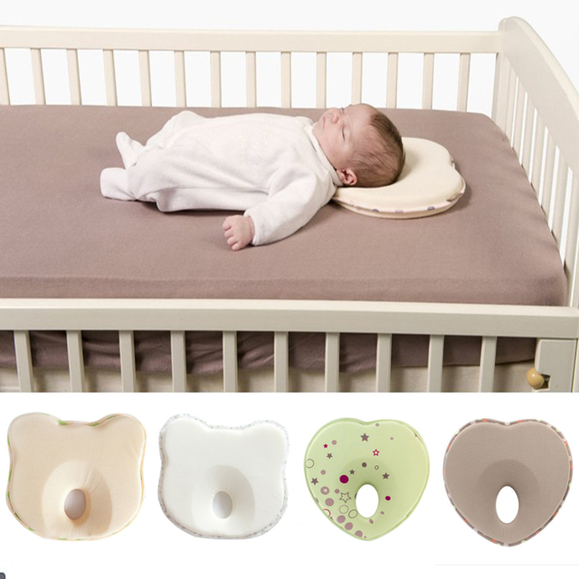 hot baby pillow infant shape toddler sleep positioner anti roll cushion flat head pillow protection of newbon