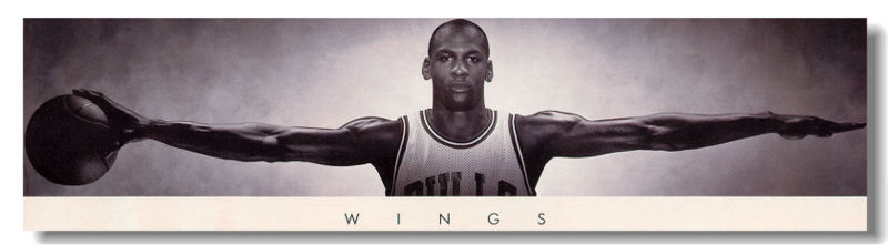 michael jordan wings poster