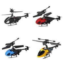 Presente das crianças Semi-micro RC Helicóptero 2.5 Canal Indoor Mini Zangão RC com Gyro Controle de Rádio do Brinquedo para Crianças