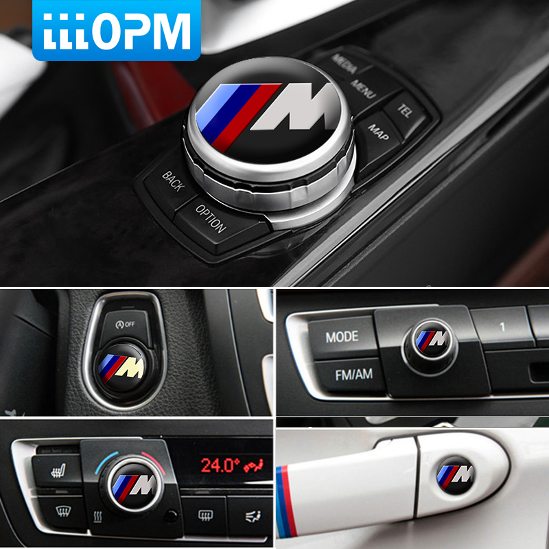 1pcs 10 15 20 25 29 mm Multimedia Audio Control Button Labeled Car Sticker Emblem Auto Badge Decal For BMW M Power Performance auto chrome camaro letters for 1968 1969 camaro emblem badge sticker